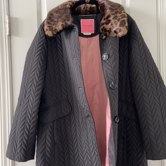 NWT Kate Spade Chevron Quilted Jacket